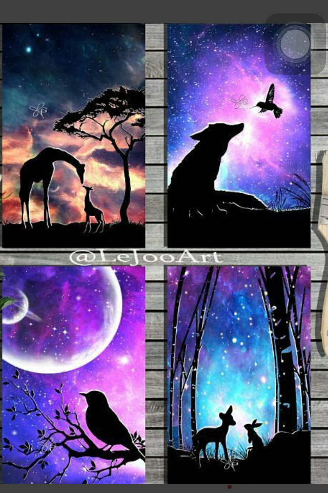 Creative Drawings Spray Paint Art Silhouette Painting Artwork