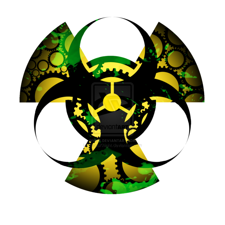 Biohazardradiation symbol together with gears artwork logos biohazardradiation symbol together with gears artwork biocorpaavc Image collections