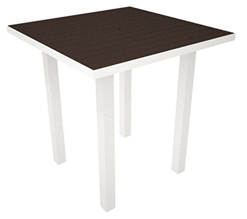 37 Recycled EarthFriendly Patio Counter Table Mahogany with White