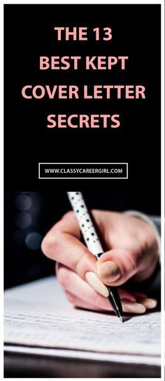 The  BestKept Cover Letter Secrets  Small Things