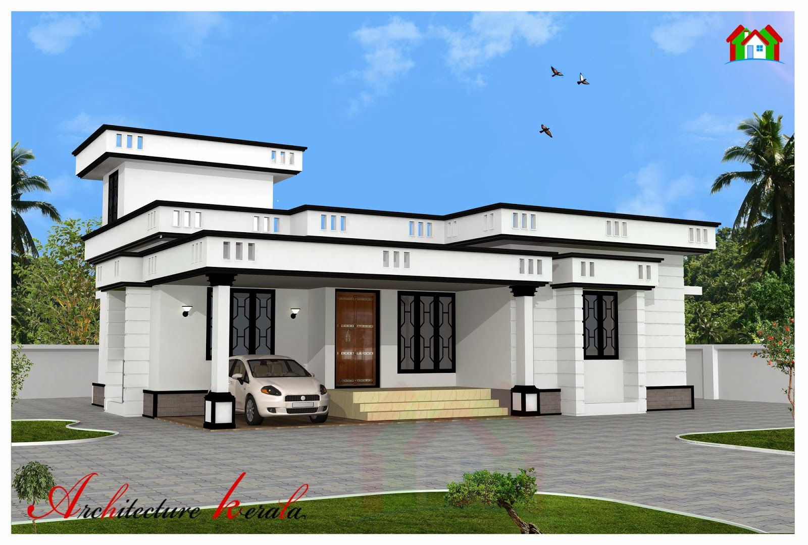 1200 Sq Ft House Elevation Model House Plan Normal House 1200 Sq Ft House