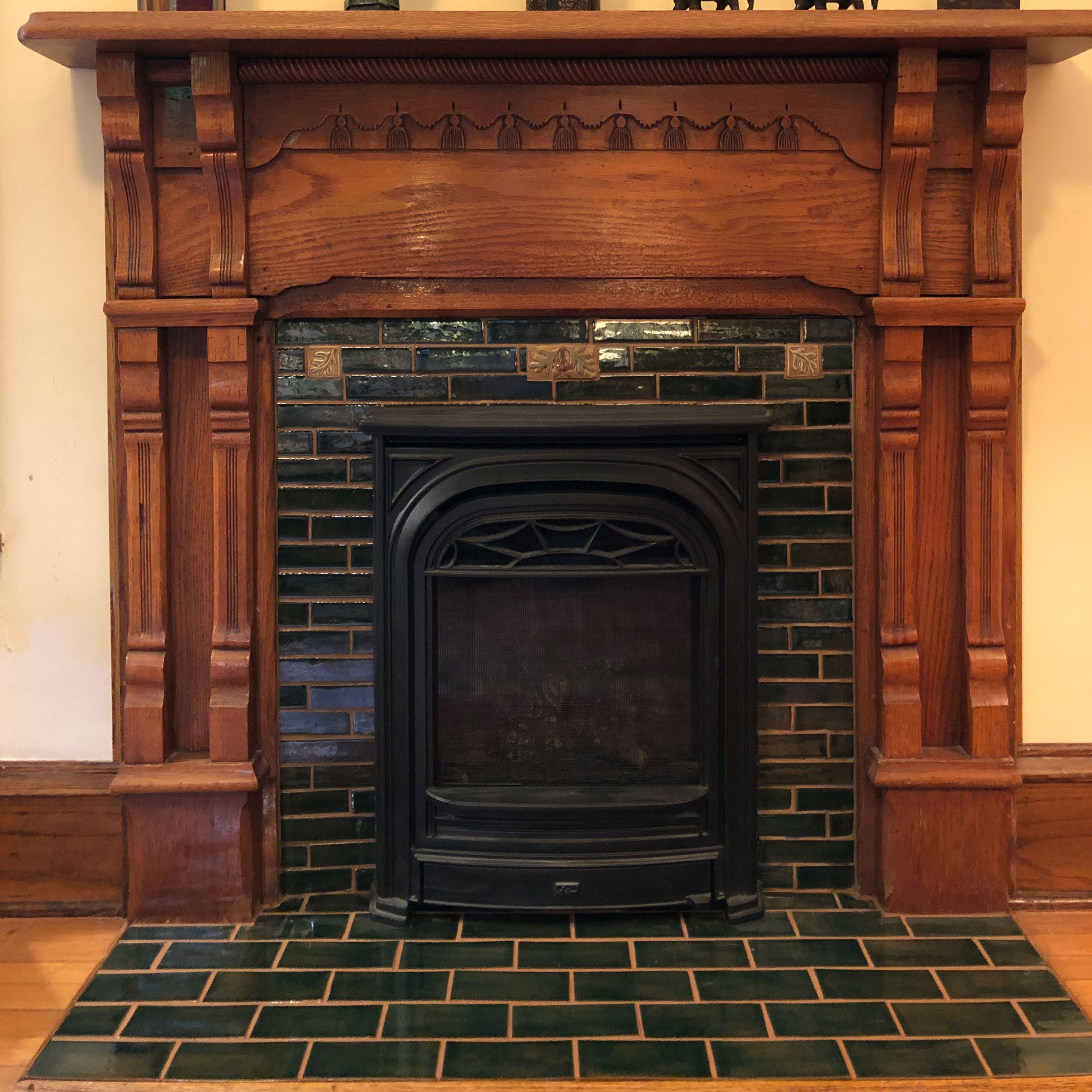 Lime Fireplace