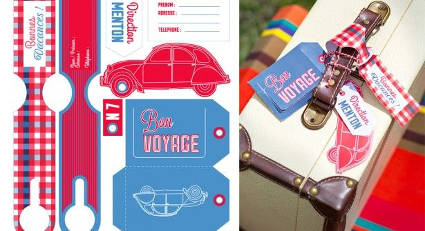 Gratuit Le Kit D étiquettes Pour Valises étiquette Bagage à Imprimer Etiquettes Gratuites étiquettes