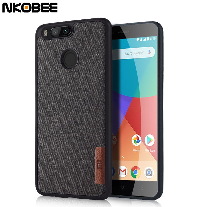 Buy Now 4 Xmas N Ny Nkobee For Xiaomi Mi A1 Case For Xiaomi Mi 5x Cover Original Cotton Cloth Luxury Phone Case For Xiaomi Luxury Phone Case Leather Skin Case