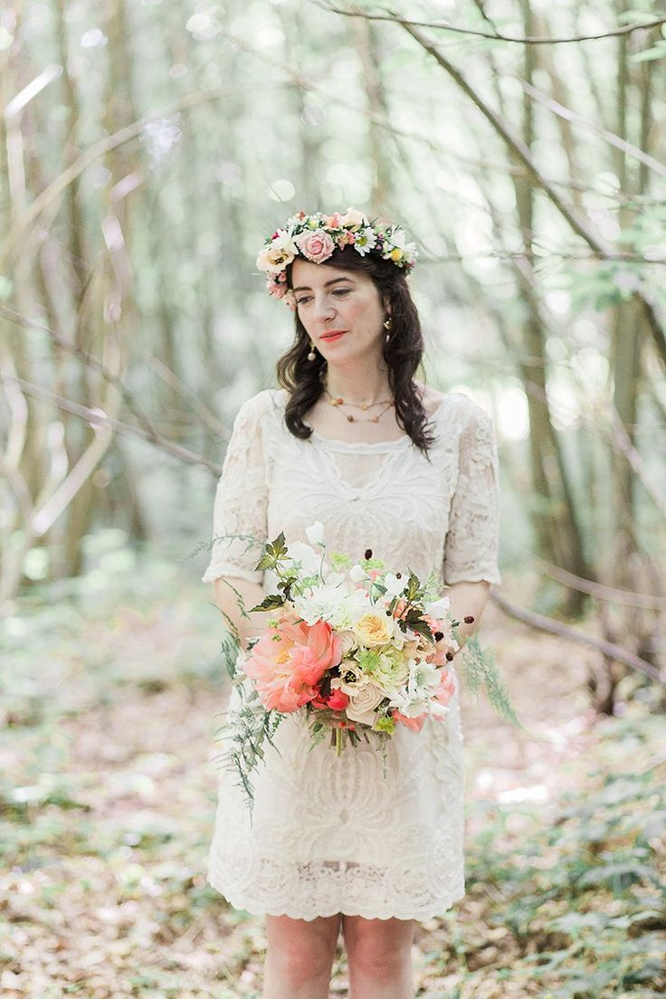 Indie Folk Hand Made Outdoor Woodland Wedding