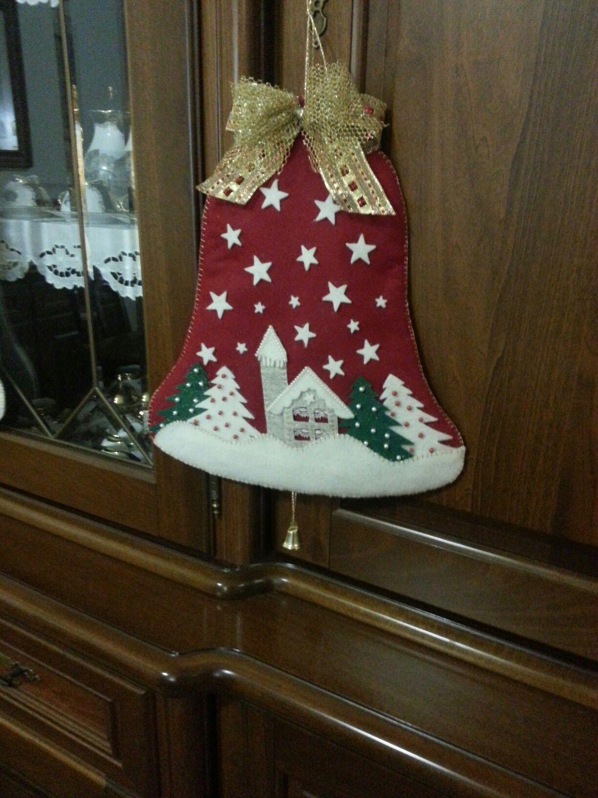 Manualidades De Navidad Campanas.Campana Navidena Manualidades Navidad Adornos Navidad