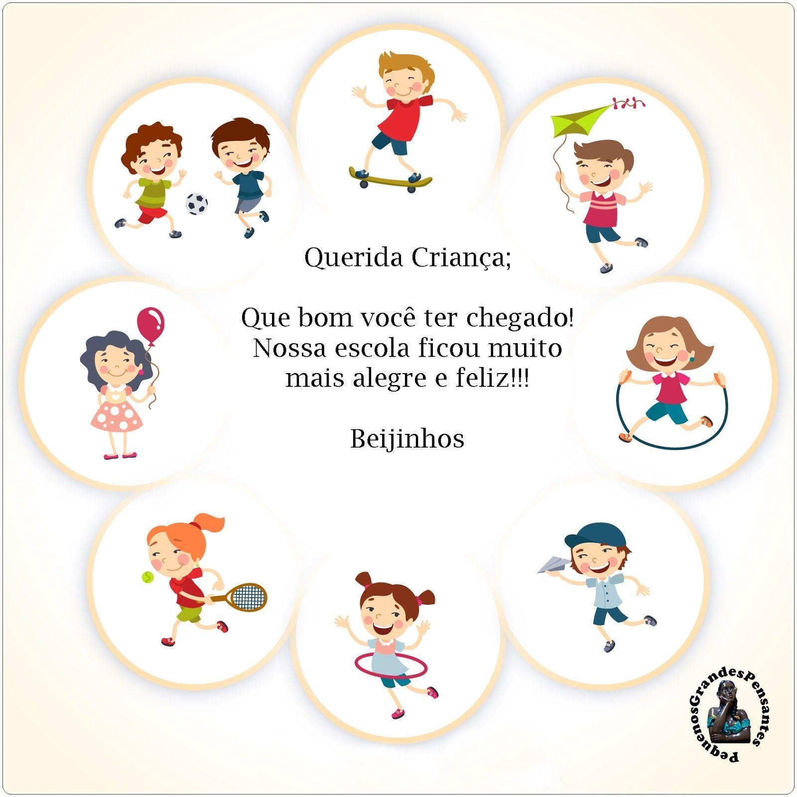 Mensagens Inéditas De Boas Vindas Educação Infantil Dibujos