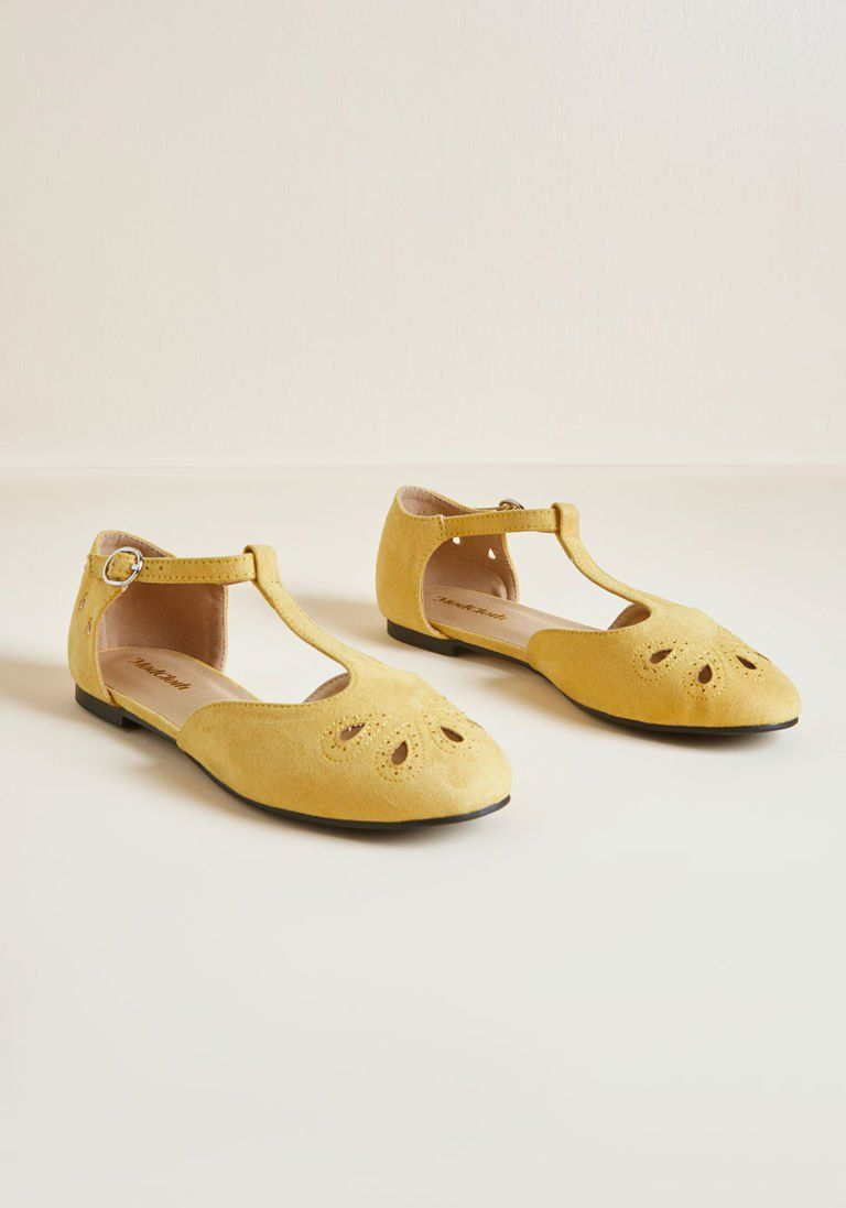 22921c84cf The Zest Is History T-Strap Flat in 13W by ModCloth in 2019 ...