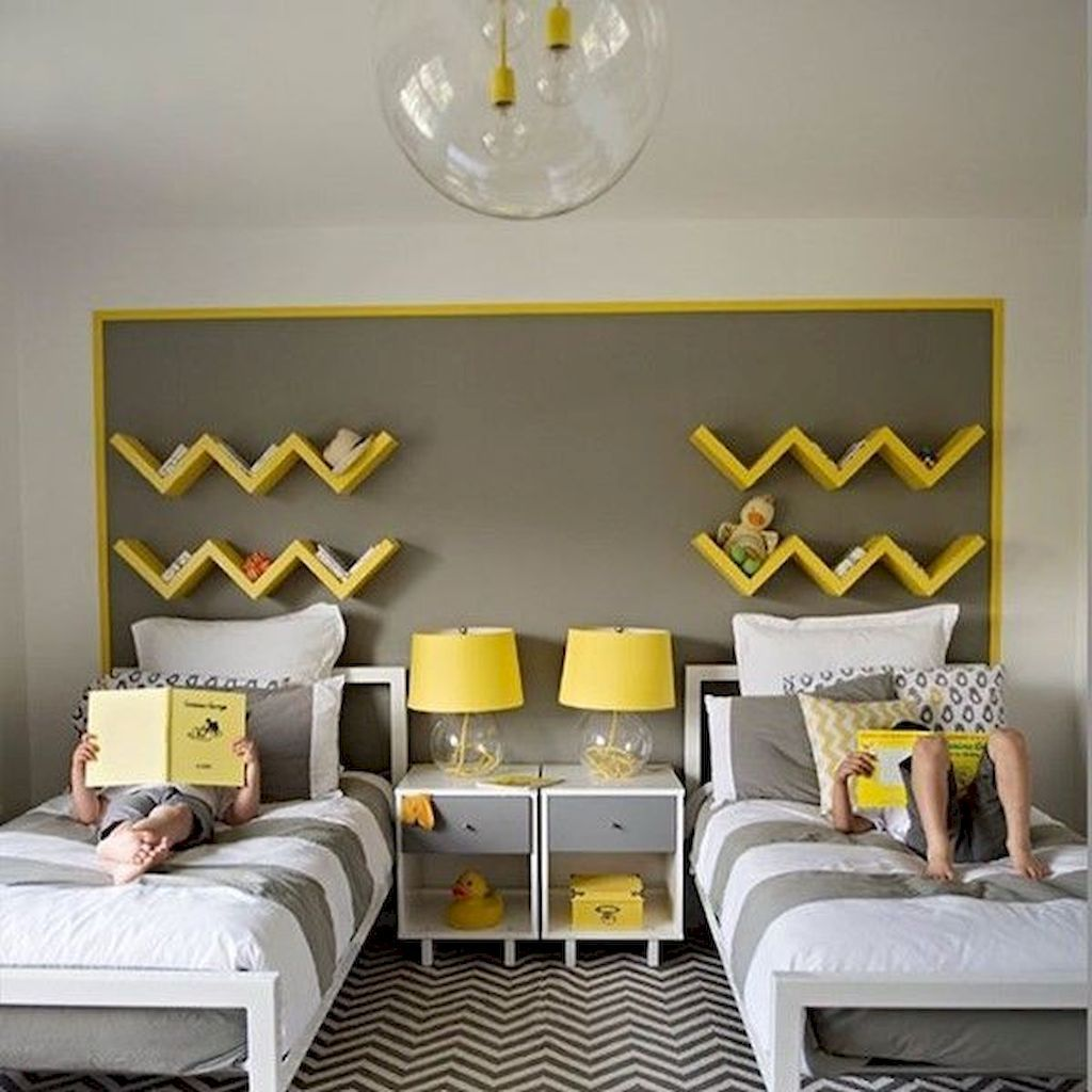 70 Adorable Shared Bedroom Kids Design Ideas images