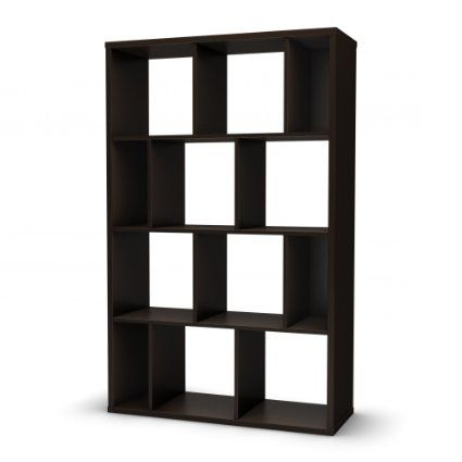 South Shore 5159730 Reveal Collection Bookcase, Chocolate