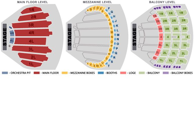 The chicago theatre seating chart seating