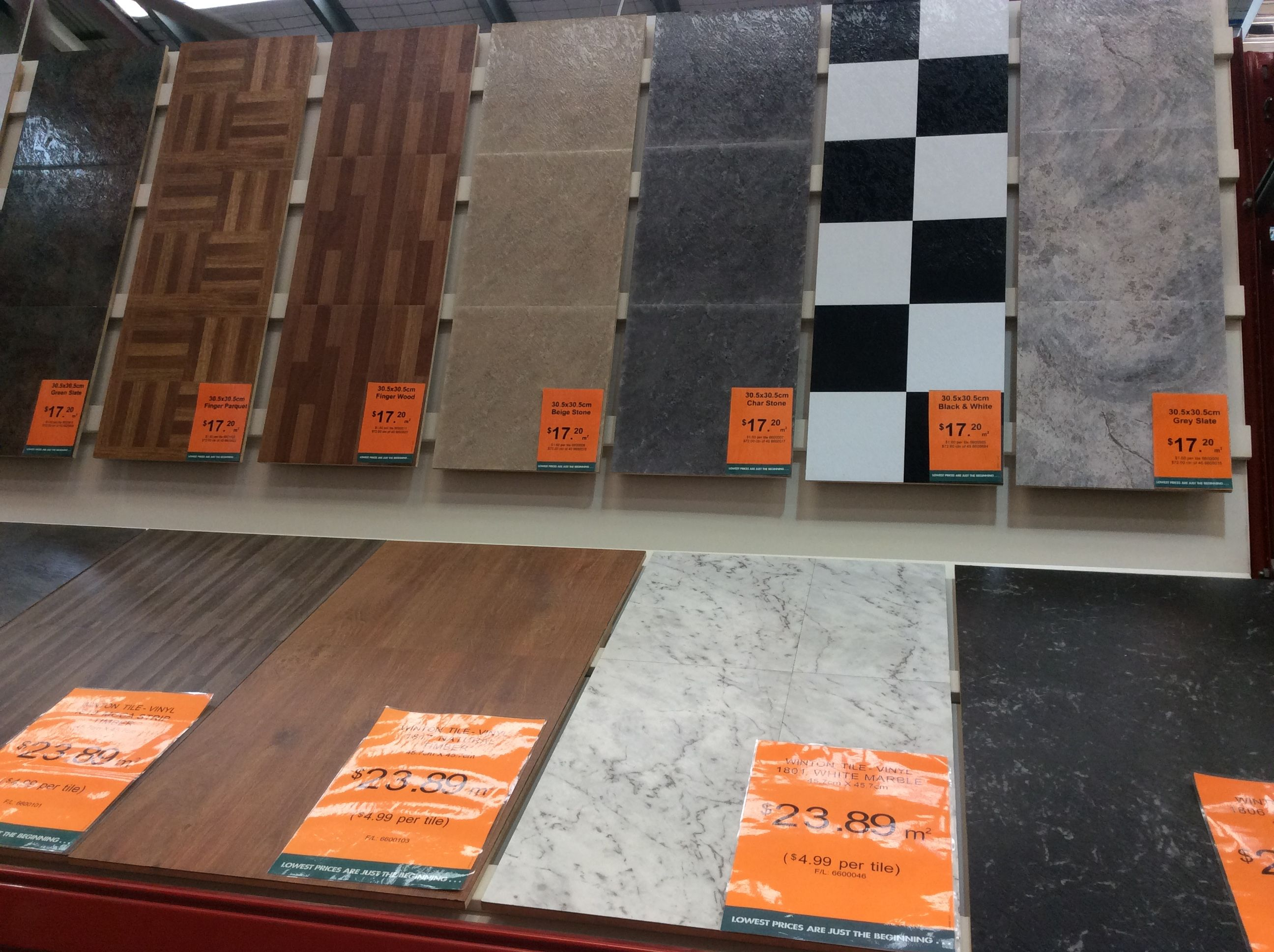 Photo 8 these vinyl wall and floor tiles on display at bunnings photo 8 these vinyl wall and floor tiles on display at bunnings are inexpensive and dailygadgetfo Image collections