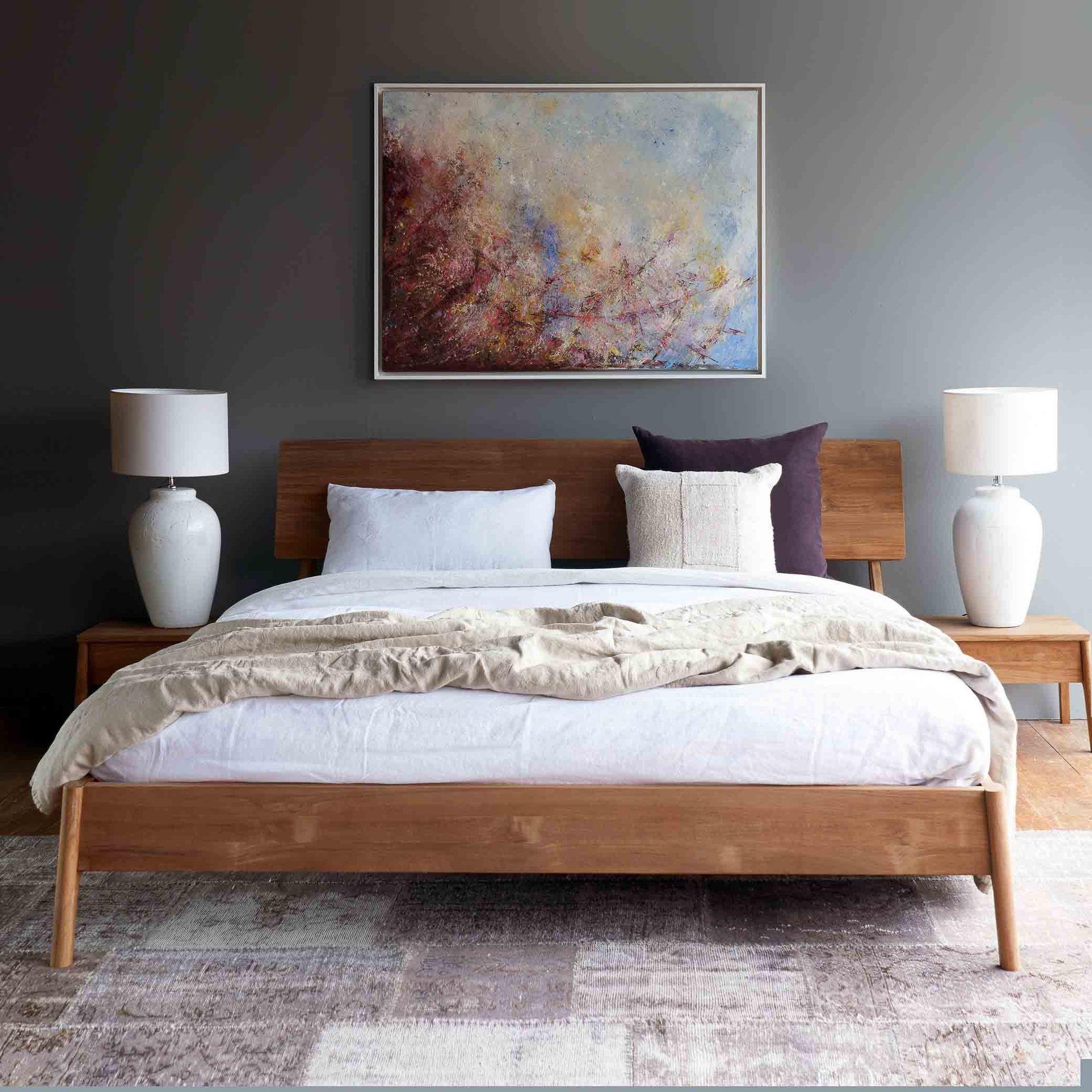 Teak Bed Frame Air Bed Australia Size in 2020 Bed
