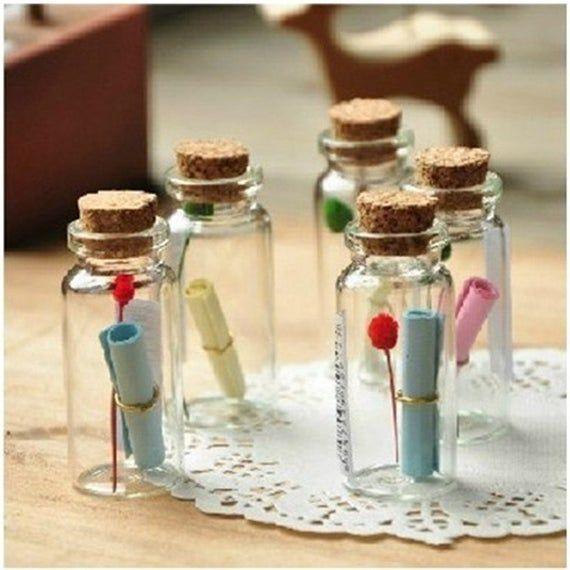Potion Bottles, Small Glass Bottles, Apothecary Bottles, Poison Bottles, Potion Jars, Clear Bottles, Favor Bottles, Wedding Decor, Perfume
