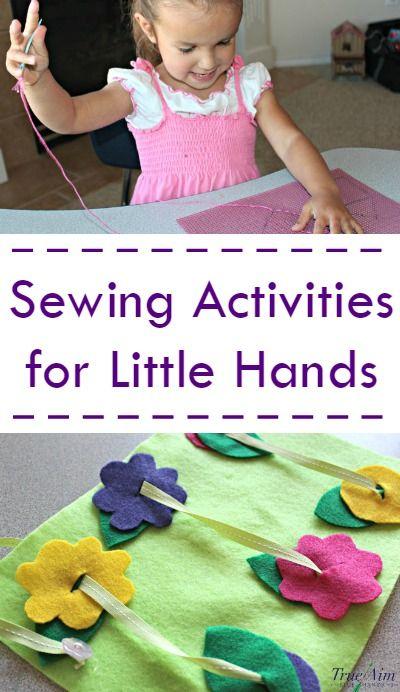 3 Simple Preschool Sewing Activities Sewing For Kids Sewing