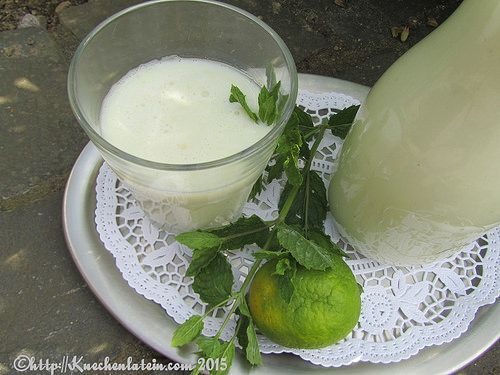 Holunderblüten-Limetten-Buttermilch