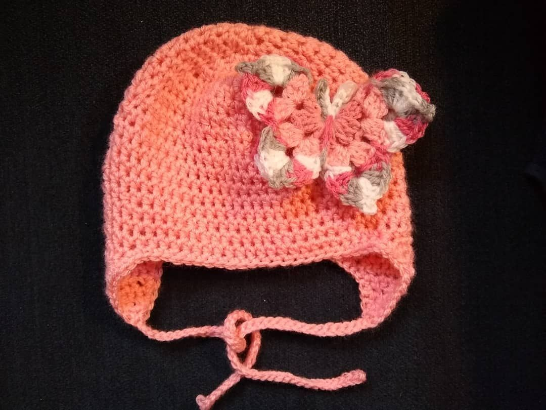 A special hat for someone special. #crochet #crafts #coinjewelry #coinearrings #crochetbabybooties #earrings #rings #babyhats #blankets #shoplocal #connecticut #babyclothes #homemade #customcrafts #weddingjewelry #husbandandwifeteam #sewing #jewelrymaking #silver #bullet #smallbusiness #newborn #baby #herkimerdiamond #butterfly #earflaphat #earflapbabyhat