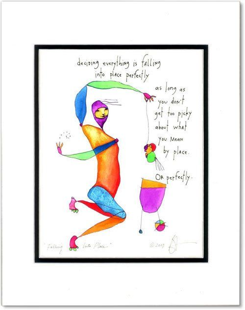 Falling Into Place Storypeople Print By Brian Andreas Language Of