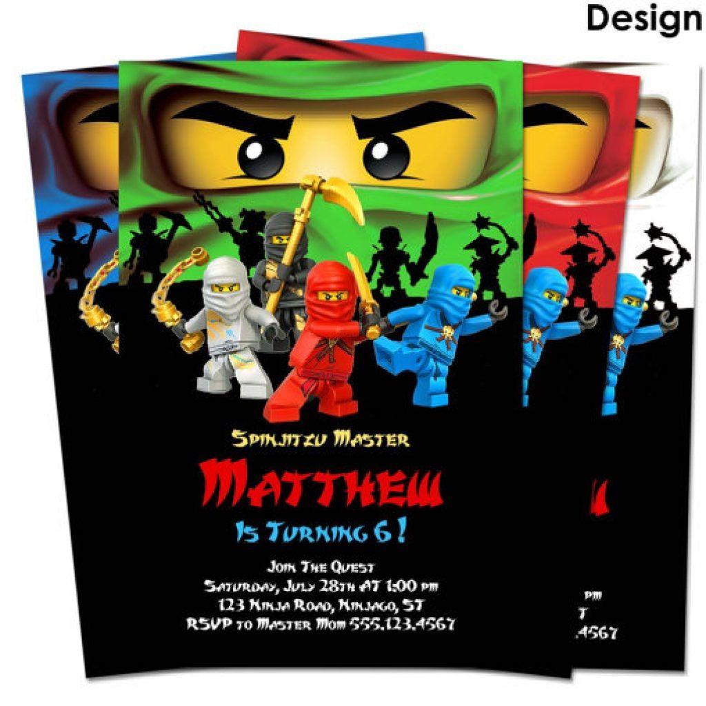Ninjago Birthday Invitations Template No2powerblasts Remigi S Lego