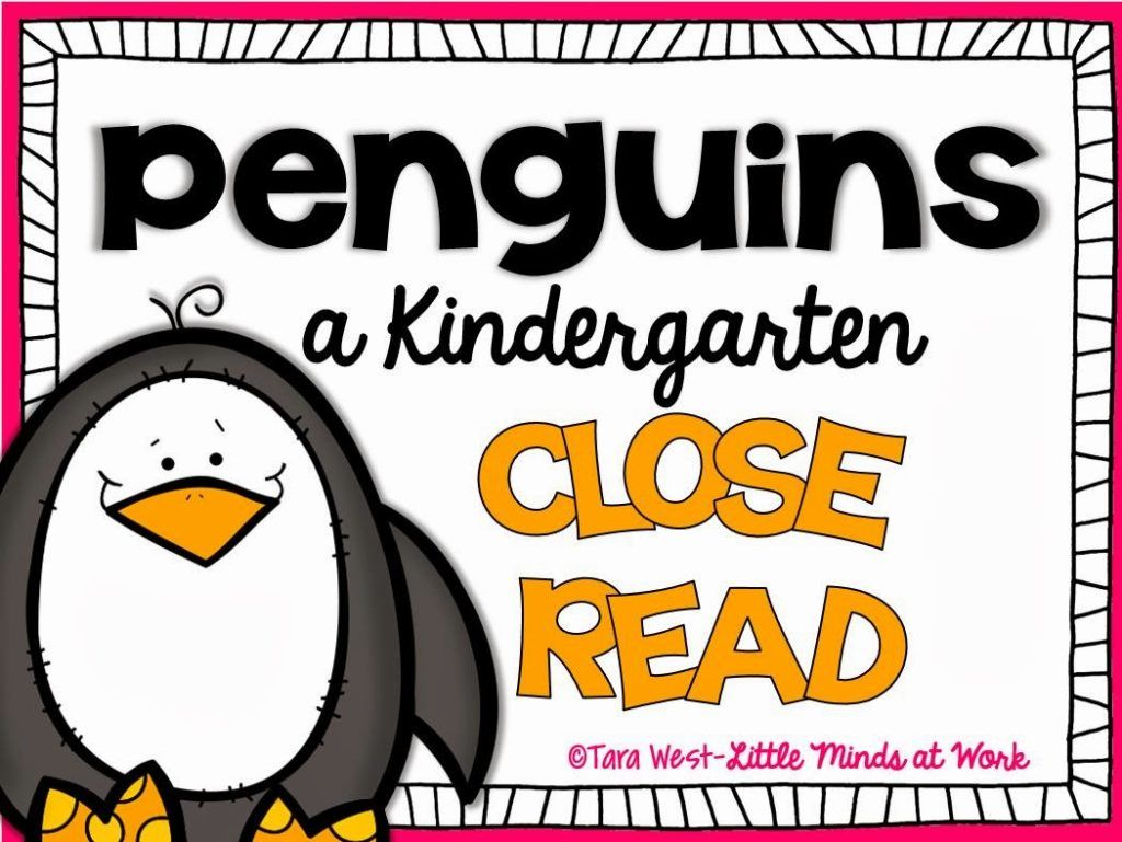 Kindergarten Close Reads