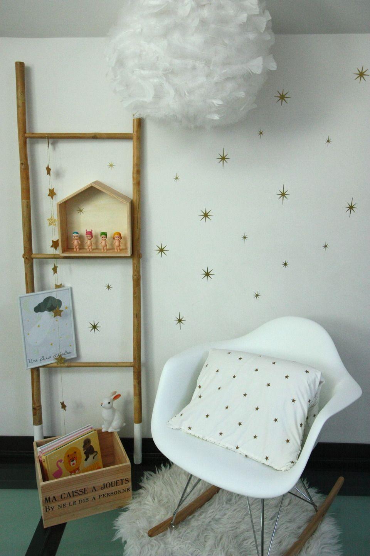stickers toiles 8 branches dor es vinyles pour habiller vos murs chambre d 39 enfant de b b. Black Bedroom Furniture Sets. Home Design Ideas