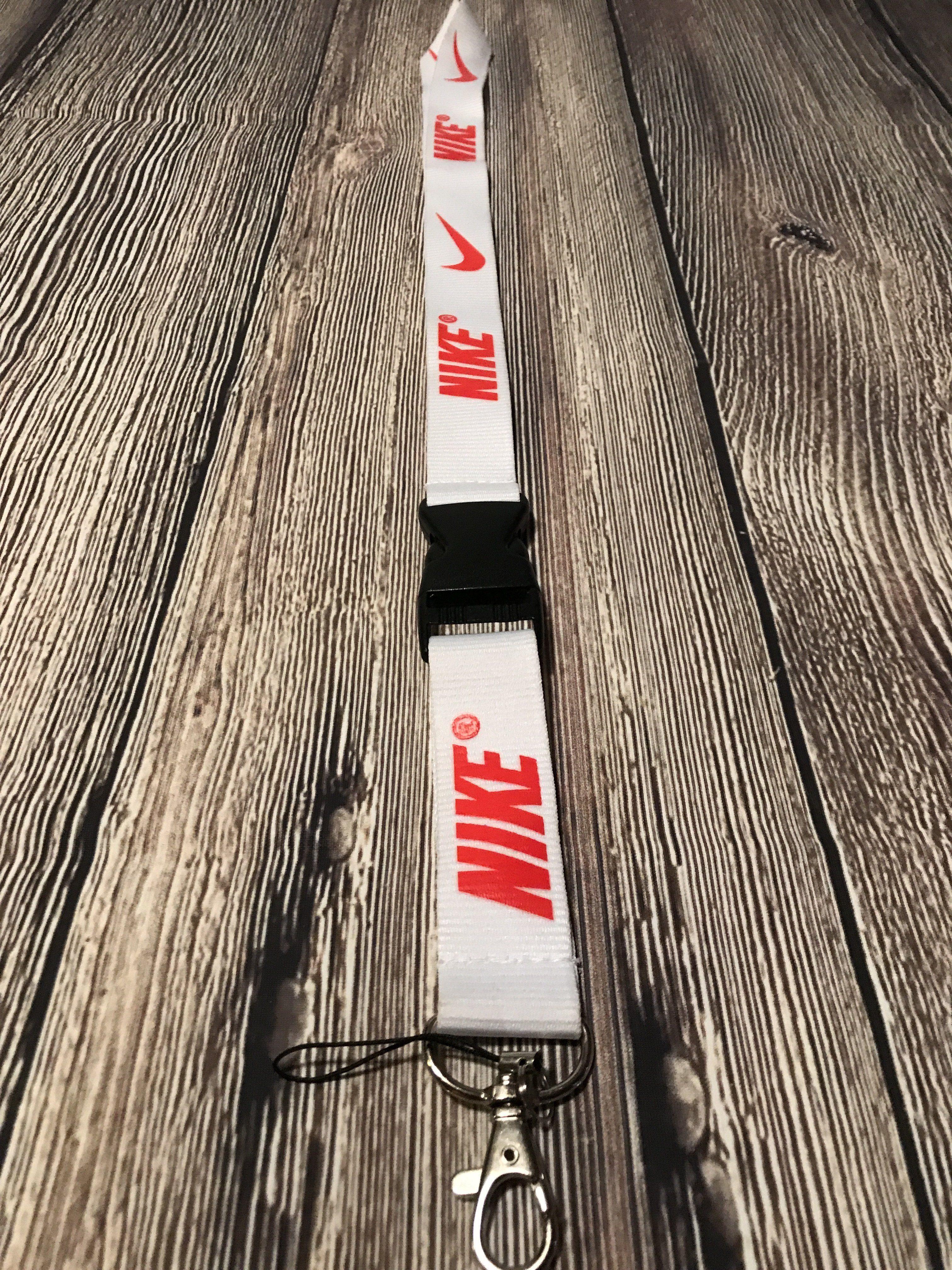 White Nike Lanyard White nikes, Nike lanyard, Nike