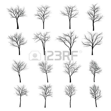 ramas de arboles blanco y negro: Árboles con rama muerta Vectores ...