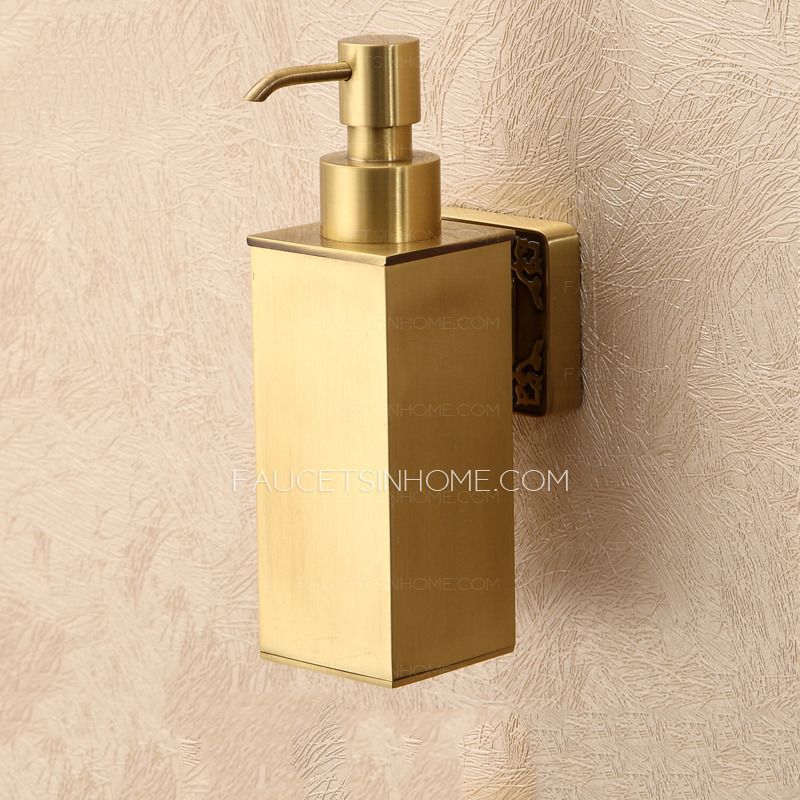 Bathroom Polished Brass Wall Mount Soap Dispensers Wall Mounted Soap Dispenser Soap Dispensers Soap Dispenser