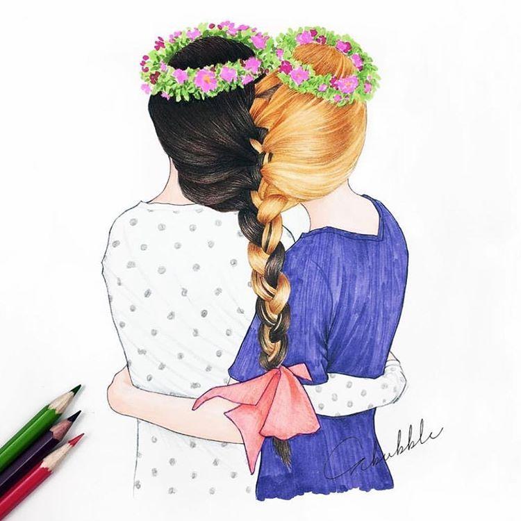 Днем рождения, красивую открытку для подруги нарисовать