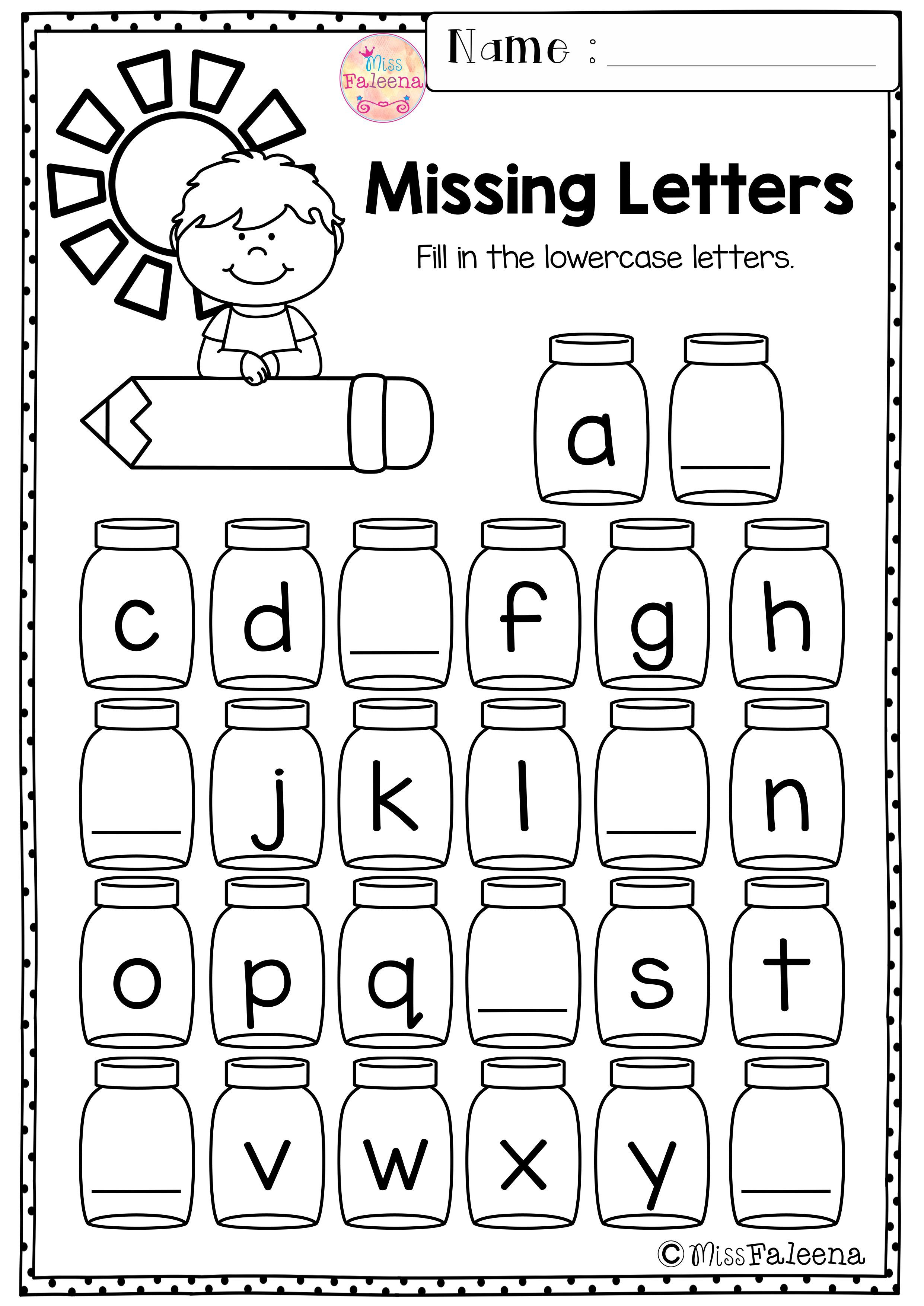 Kindergarten Morning Work (Set 1) | Preschool worksheets ...