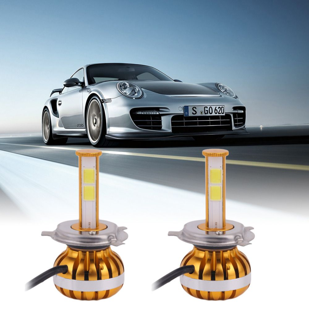Newest 1pair D6 H7 Car Led Headlamp Bulb Head Lights Replace Xenon Headlights 4000lm Dc9 36v 60w 6000k Led Chip White Xenon Headlights Car Led Led Headlamp