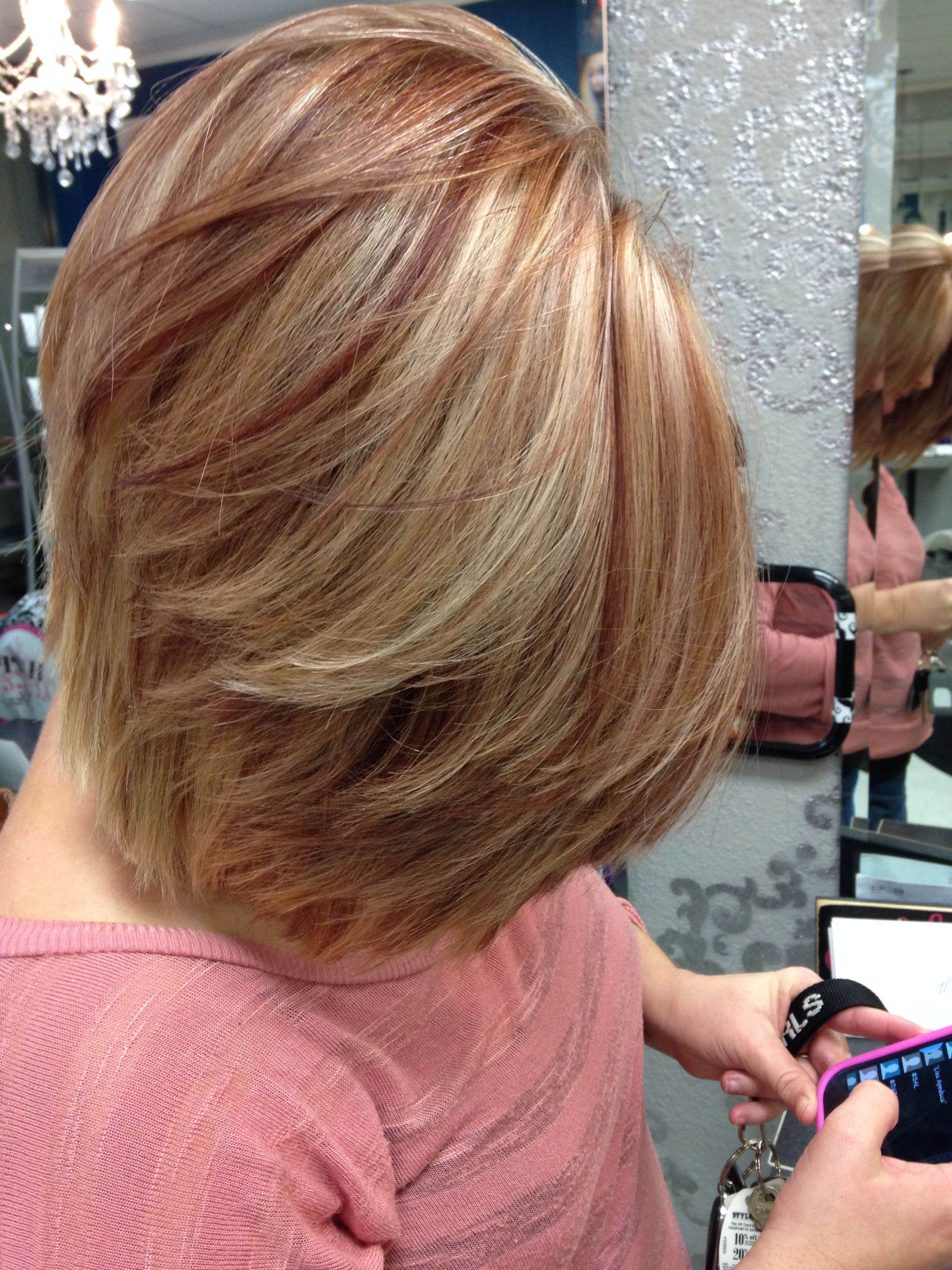 Blonde with red lowlights Hair by me Pinterest
