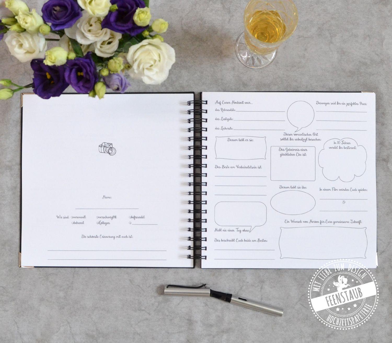 Hochzeit Gastebuch Mit Fragen Mit Bildern Gastebuch Hochzeit Hochzeitsgastebuch Hochzeit