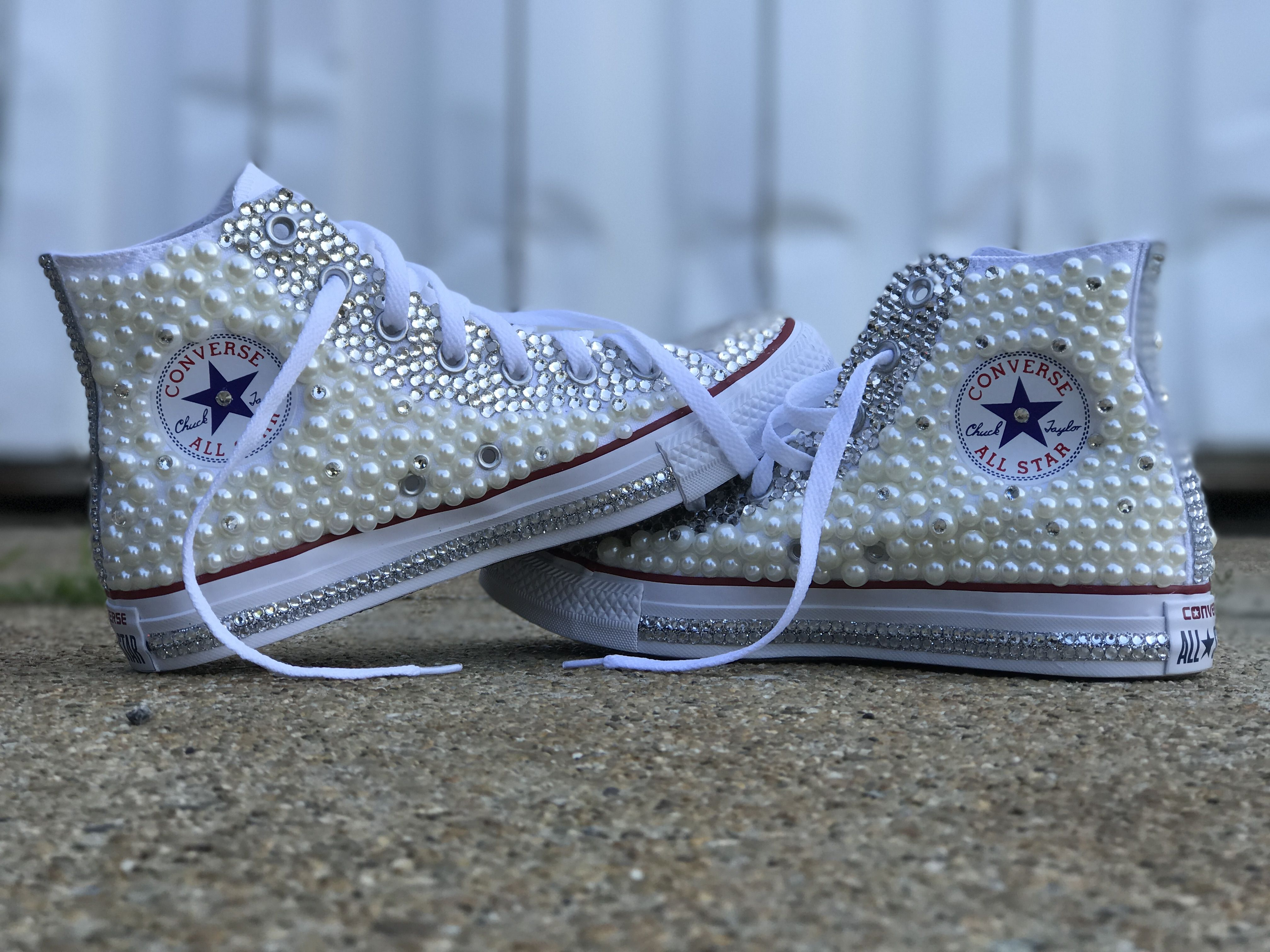 Diamonds and Pearls Chuck Taylor Converse Sneakers