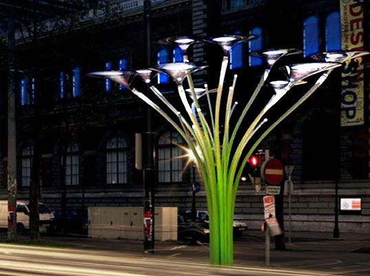 solar tree urban lighting design