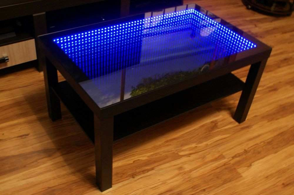 Living Room Table Ebay Lovely Table Basse Ebay Impressionnant Black Table Led 3d Coffee Table In 2020 Mirrored Coffee Tables Infinity Mirror Infinity Table