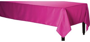 Bright Pink Fabric Tablecloth