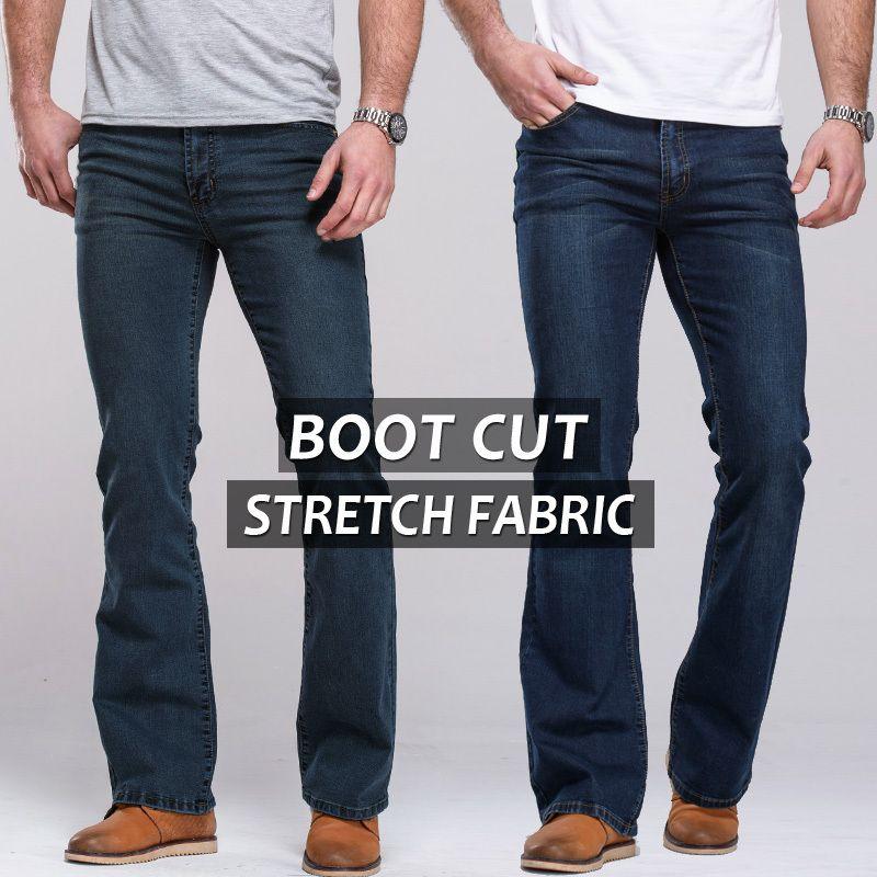 Mens bootcut blue jeans