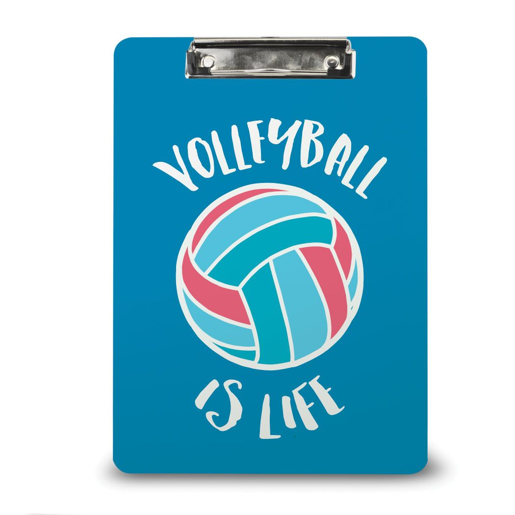 Black White Team Colors Volleyball Coach Clipboard Zazzle Com Coaching Volleyball Team Colors Volleyball Player Gifts