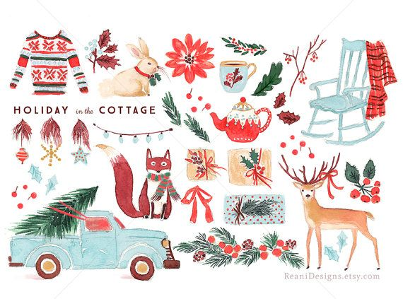 Holiday in the Cottage - Clip Art for personal and commercial use ...