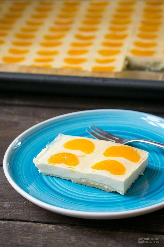 Mandarinen Schmand Kuchen Vom Blech Kuchenpinnwand Pinterest