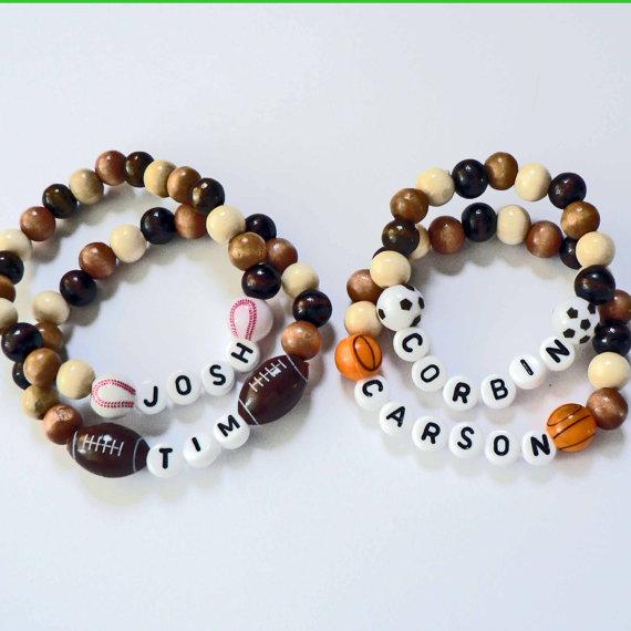 Sport Ball Beads Spirit Bracelet Personalized By Stargazinglily