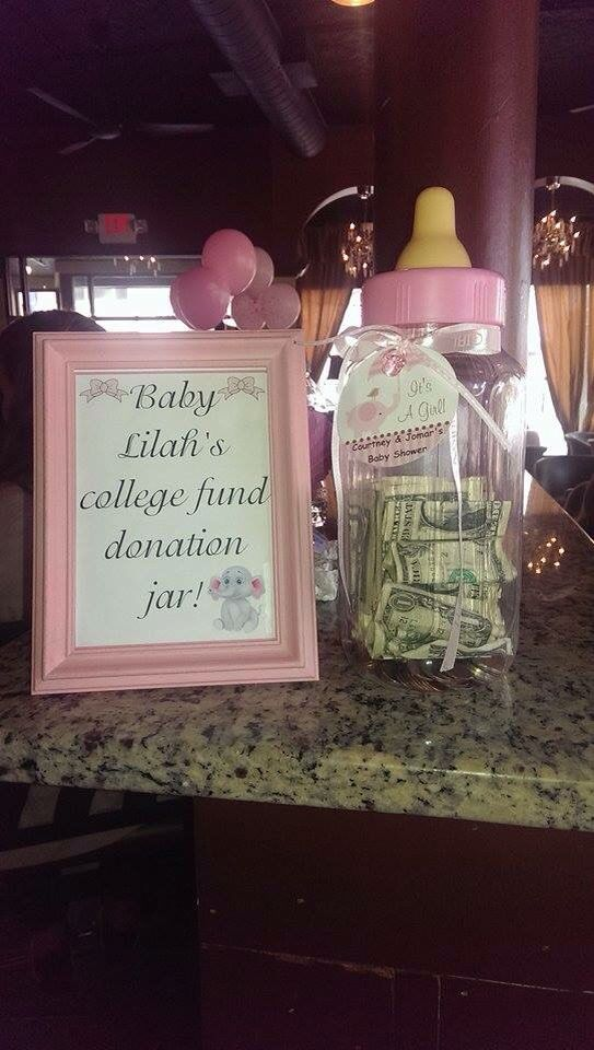 College Fund Donations In 2019 Baby Shower Favors Girl
