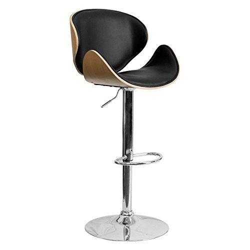 Wondrous Flash Furniture Beech Bentwood Adjustable Height Bar Stool Caraccident5 Cool Chair Designs And Ideas Caraccident5Info