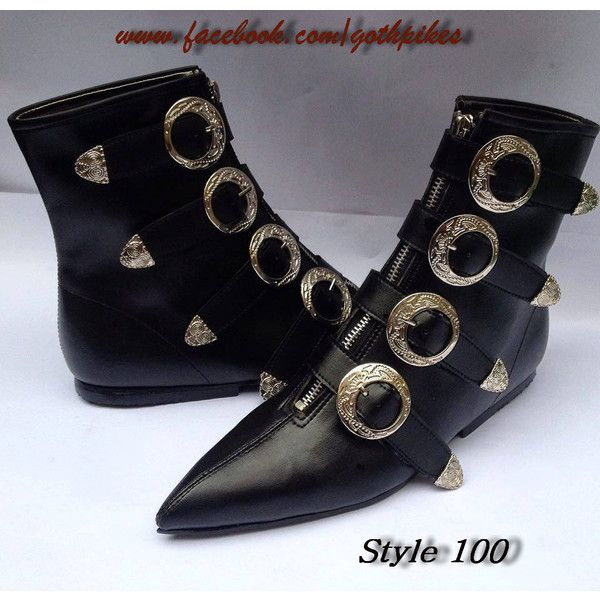 0bb7a83d1b6e8 Pikes Winklepickers boots Rare buckles Goth Gothic Batcave WGT ...