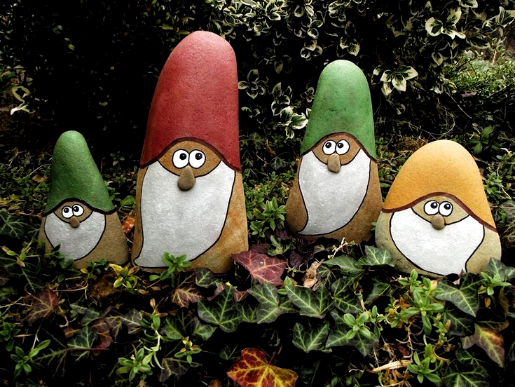 Zwerg Aus Stein Fur Garten Als Geschenk Gartdeco Als Aus Fur Gartdeco Garten Geschenk Stein Zwerg In 2020 Rock Crafts Stone Crafts Painted Rocks
