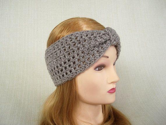 Womens crochet headband Crochet ear warmer Crochet turban headband ...