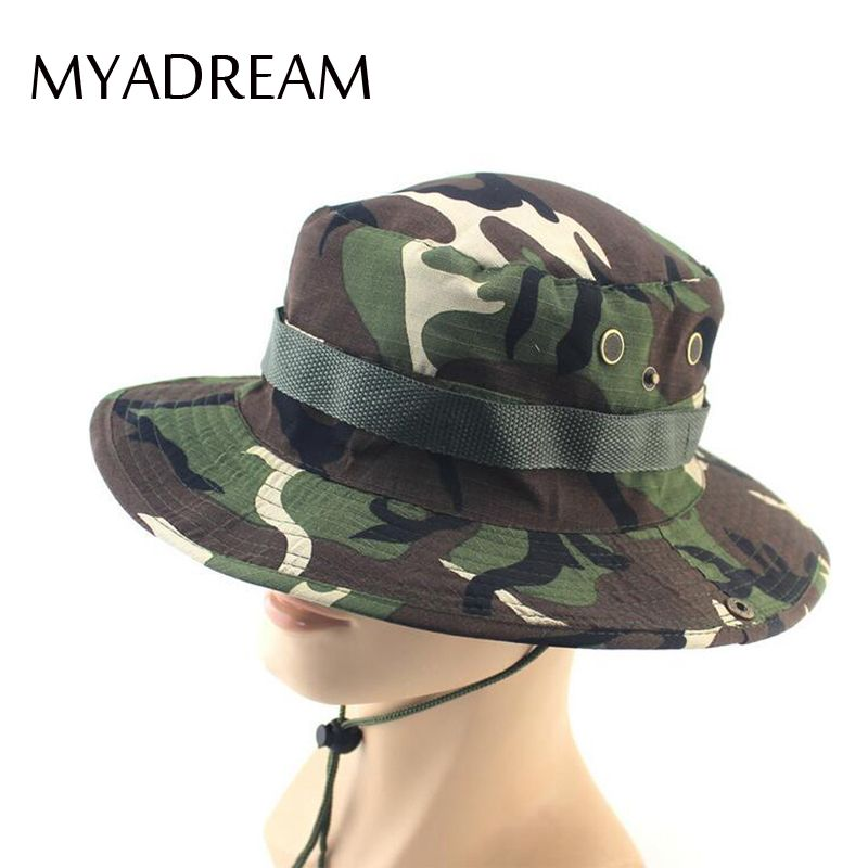 6439927319c Click to Buy    MYADREAM Outdoor Camping Hiking Hunting Fishing Camouflage  Bucket Hat