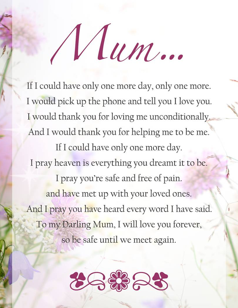 Thinking Of My Mum As We Prepare To Finally Lay Her To