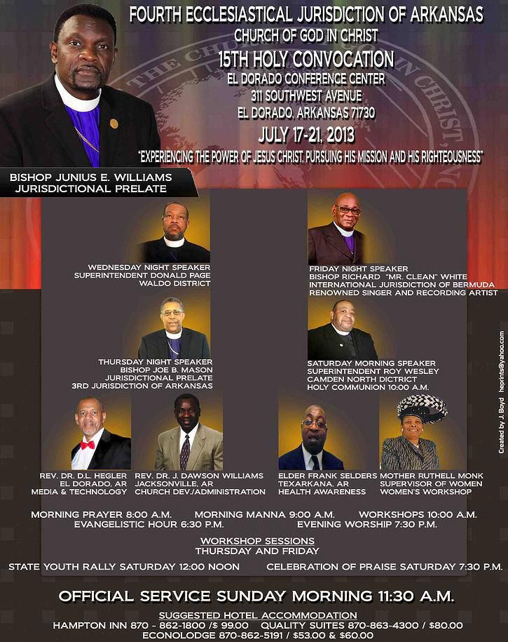 Bishop Junius E  Williams and the 4th Ecclesiastical Jurisdiction of
